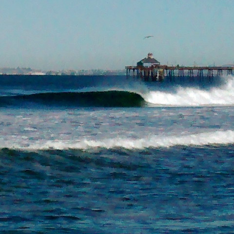 Imperial Beach Pier Surf